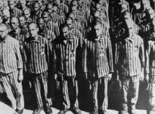 Buchenwald: prisonniers juifs hollandais lors de l'appel quotidien