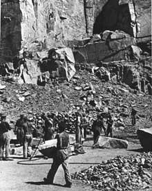 Mauthausen: dans la carrière