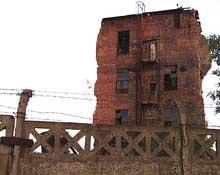 Auschwitz-Monowitz: ruines des Buna-Werke de l'IG Farben