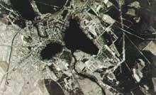 Ravensbrück: vue aérienne