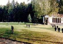 Schörzingen en Bade-Wurtemberg. Vue du mémorial du camp, camp-commando de Natzwiller – Struthof