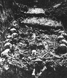 Schörzingen en Bade-Wurtemberg, camp-commando de Natzwiller – Struthof: fosse commune découverte en 1946
