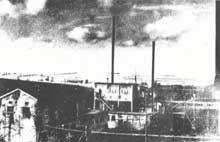 Vue du site de l'usine expérimentale de la DÖLF de Schömberg