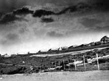 Natzwiller – Struthof: vue du camp pendant la guerre, col. Musée du Struthof, photo M.-J. Bop
