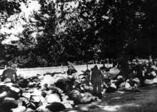Babi Yar: ramassage des effets des victimes