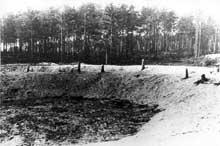 Ponary près de Vilno: une des fosses d'exécution