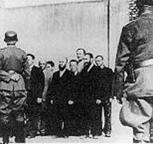 Schaulen - Siauliai en Lituanie: peu avant l'exécution