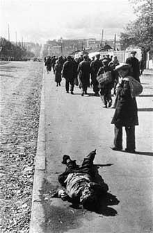 Babi Yar: la route du supplice est jonchée de cadavre de récalcitrants
