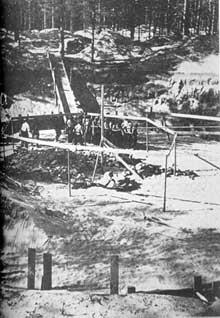 Ponary près de Vilno: fosse de crémation