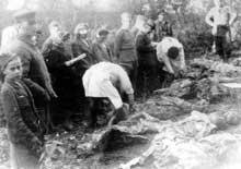 Zolochev – Zloczow: le charnier après la guerre