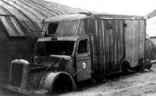 Camion à gaz Magirus Deutz fabriqué à Ulm et retrouvé dans l'usine Ostrowski de Kolo