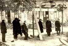Juifs ukrainiens exécutés à Odessa dans une rue