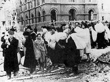 Drohobycz, en Galicie. Déportation des Juifs, 1942