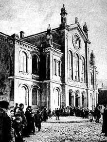 Lomza: la vieille synagogue détruite en septembre 1941