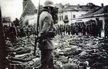Olkusz: le «vendredi sanglant» du 31 juillet 1940: les Juifs sont battus et humiliés sur la place publique