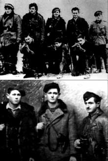 Forêt de Parczew: partisans juifs du groupe Grynszpan en 1943