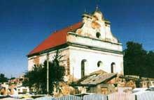 Slonim en Biélorussie: la synagogue