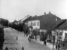 Slonim en Biélorussie: rue de la ville