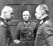 Johannes Blaskowitz, Erwin Rommel et Gerd Von Rundsted