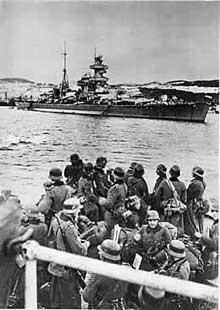 Avril 1940 : les troupes allemandes débarquent en Norvège sous la protection d'un croiseur