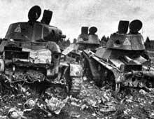 Kiev, septembre 1941: chars T26 soviétiques détruits