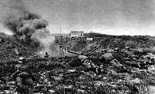 Les parachutistes allemands prennent le fort d'Eben-Emael