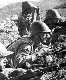 Soldats roumains à Stalingrad en automne 1942