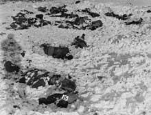 Les 81 soldats américains prisonniers assassinés par les Waffen SS de Joachim Peiper près de Malmédy, décembre 1944