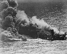 Cargo allié coulé par un U-Boot, Atlantique 1943
