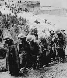 Dunkerque. Prisonniers britanniques