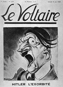 Mai 1940 : caricature du « Voltaire », quelques jours avant l'invasion