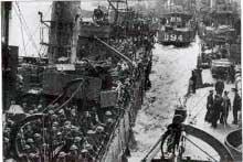Dunkerque : embarquement des troupes franco-anglaises