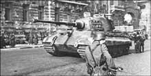 Un « Königtiger » à Budapest, octobre 1944