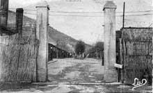 L'entrée du camp de rééducation de Schirmeck-Vorbrück