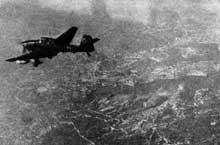Un JU87 « Stuka » au dessus de Malte en janvier 1947