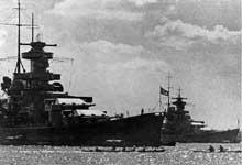 Les croiseurs de bataille allemands « Scharnhorst » et « Gneisenau » en 1939. De redoutables prédateurs
