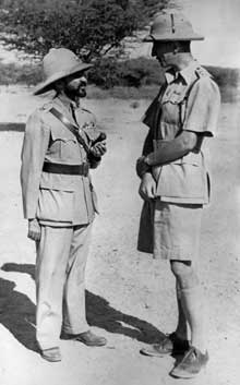 L'empereur d'Ethiopie, le Négus Hailé Sélassié (1892-1975) à Khartoum, peu avant son retour à Addis Abbeba