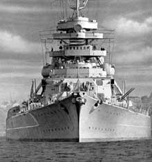 Le Bismarck : vue de la proue