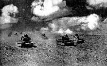 Attaque de chars britanniques sur le col de Halfaya. Ce sera une hécatombe