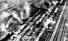 Bombardement d'un noeud ferroviaire en Ukraine