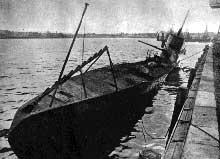 Sous marin soviétique capturé par les Allemands à Libau