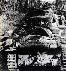 Chars allemands dans le secteur de Viazma, 21 octobre 1941