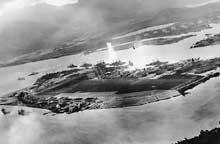 Pearl Harbor : une torpille vient de toucher le West Virginia