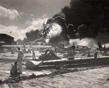 Pearl Harbor : explosion sur l'aérodrome
