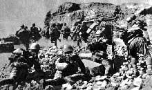 Les Japonais à l'assaut de Corregidor