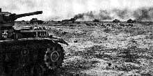 Rommel contre attaque en Cyrénaïque. Janvier 1942