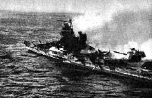 Bataille de Midway : l'épave du croiseur Mikuma