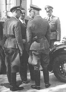 Bousquet (centre), Dannecker (gauche) et Oberg (droite)