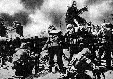 Les marines débarquent à Guadalcanal