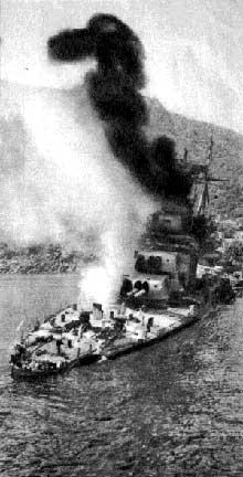 Opération piédestal : un navire de bataille anglais en grande difficulté. L'opération de ravitaillement de Malte sera un échec pour les Anglais